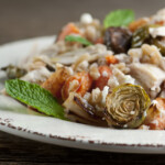 Chicken Farro Salad with Roasted Vegetables