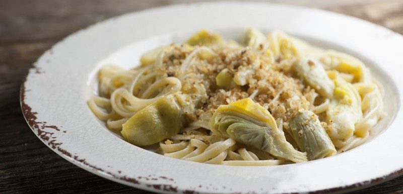 Artichoke Pasta with Bread Crumbs