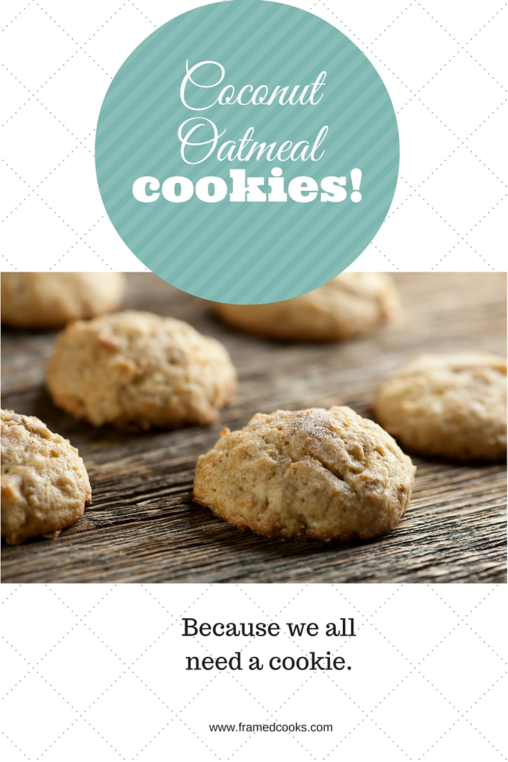 This super easy recipe for coconut oatmeal cookies with just a hint of cinnamon sugar makes a delicious old fashioned comforting treat.