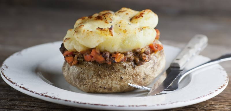 Twice Baked Shepherd's Pie Potatoes