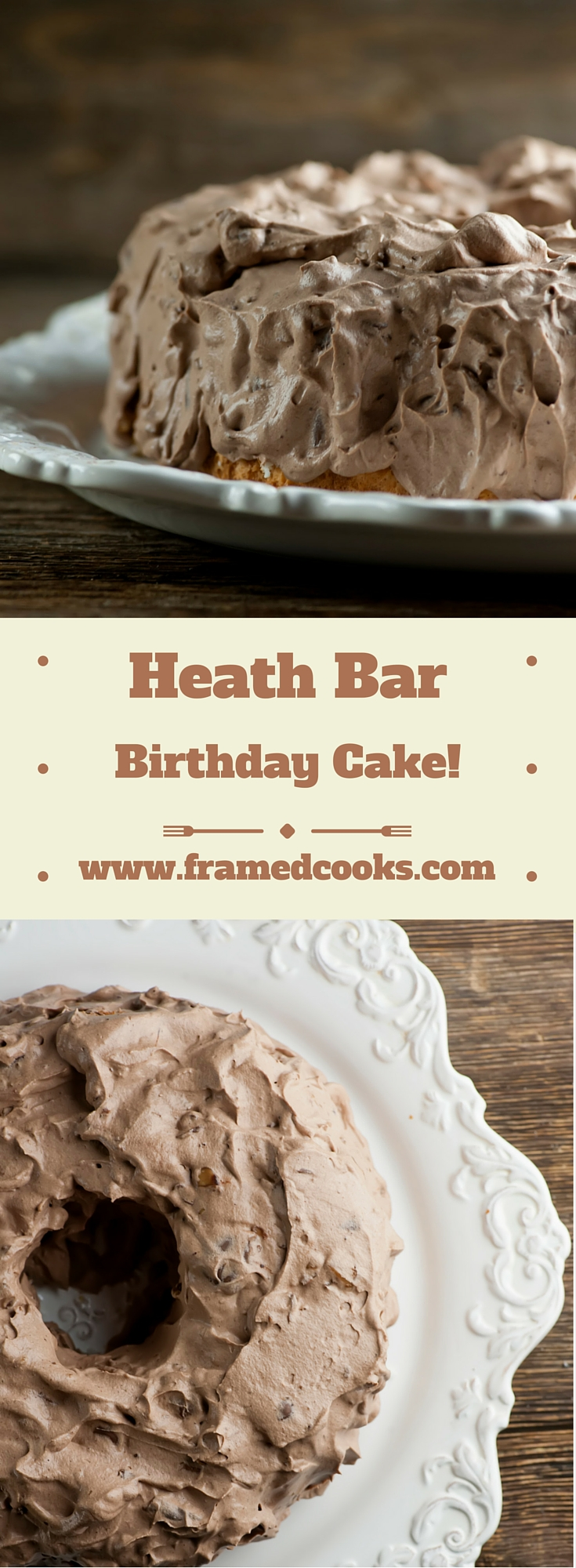This easy recipe for Heath Bar Birthday Cake takes just five ingredients and no baking, and makes a delicious and dramatic dessert.