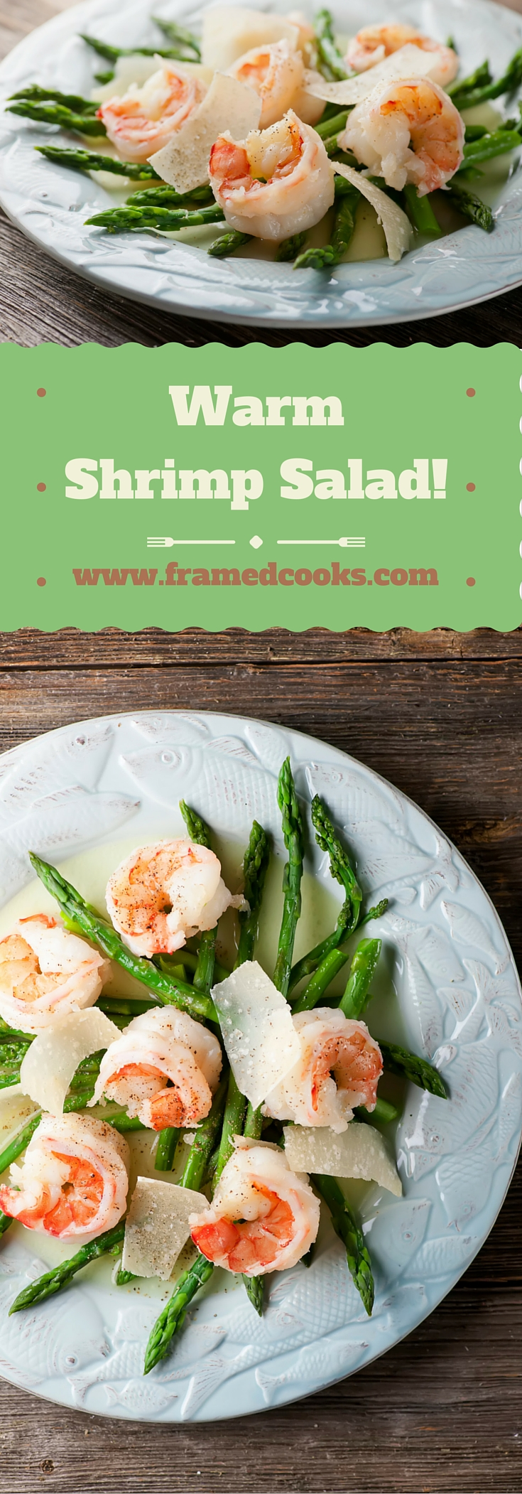 This easy recipe for warm shrimp salad is the perfect light lunch or dinner.  Let's hear it for salad season!