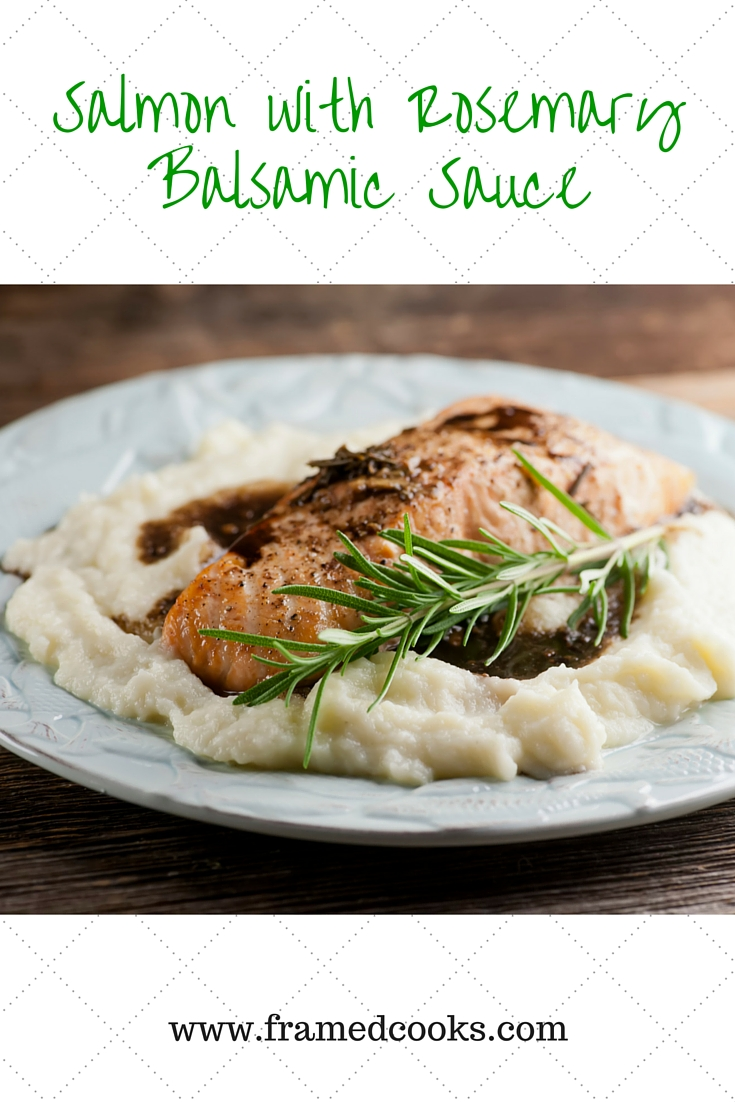 Give roasted salmon a jazzy taste with this easy recipe for salmon with rosemary balsamic sauce.  Everything is better with balsamic vinegar!