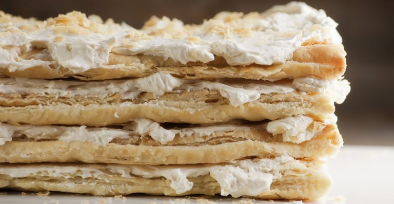 Russian Napoleon Cake Framed Cooks