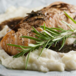 Salmon with Rosemary Balsamic Sauce