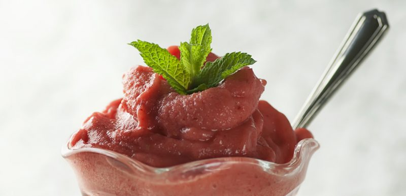 Strawberry Banana Sorbet