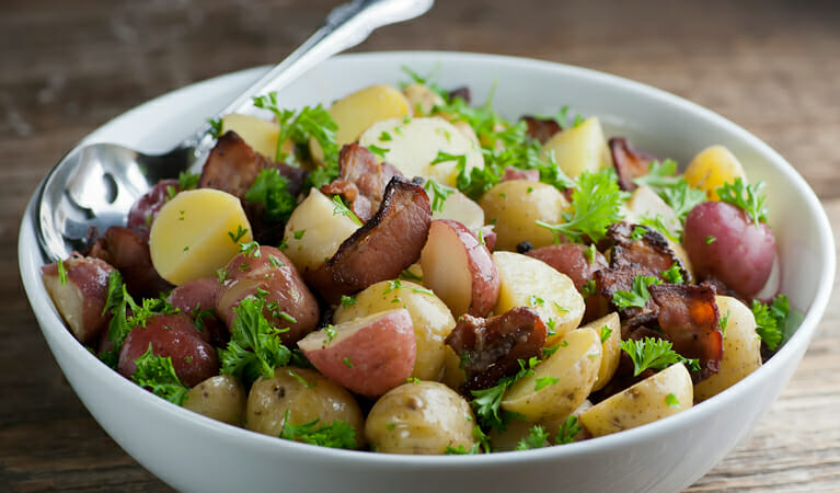 how to make bacon potato salad
