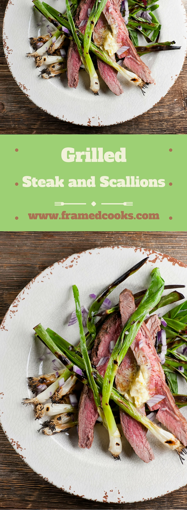 This recipe for grilled steak and scallions is as easy as tossing a flank steak and fresh scallions on the grill and serving it up. A perfect summer supper!