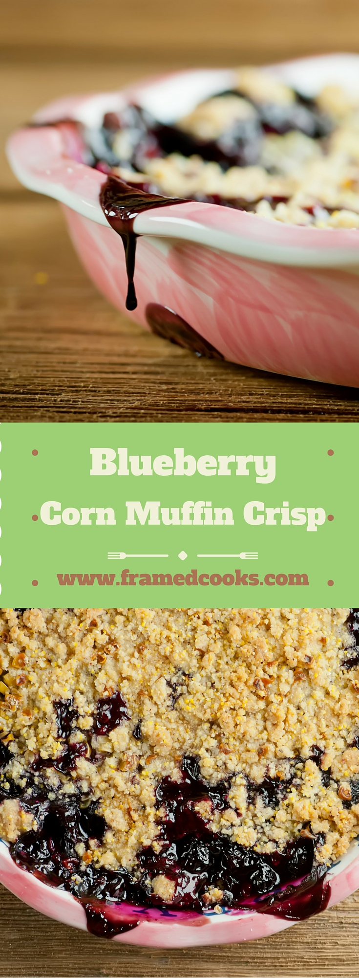 Blueberries meet corn muffins in this summer dessert recipe that features a sweet blueberry mixture topped with a fresh corn muffin crumble!