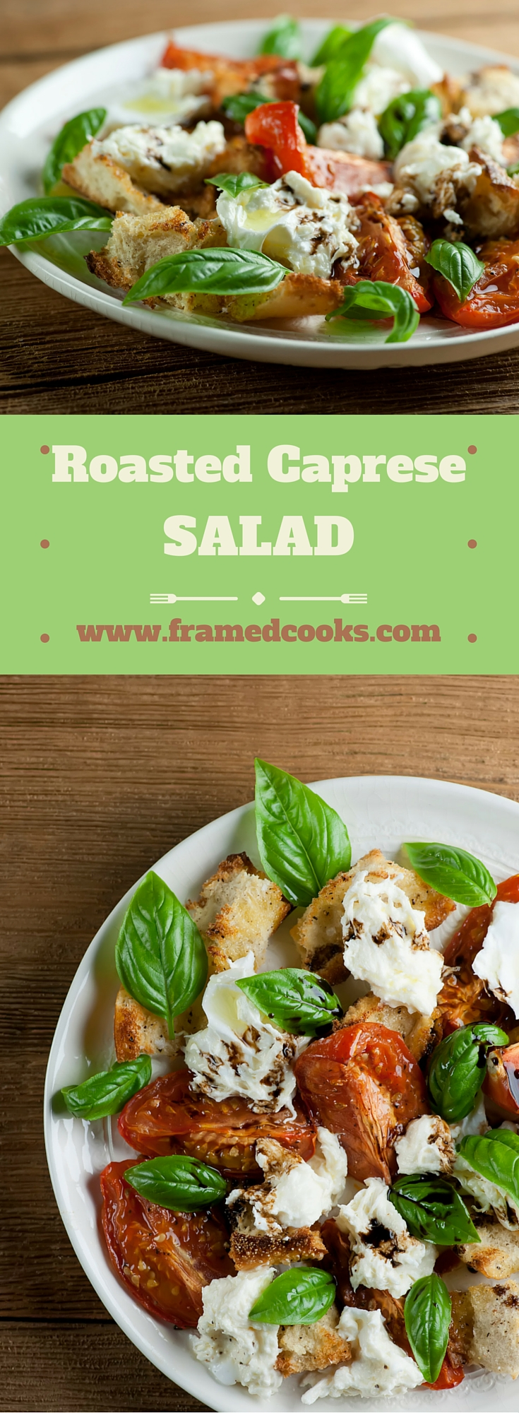 Shake up your favorite summer salad with this recipe for a roasted version of caprese salad that adds bread and burrata cheese to the mix!
