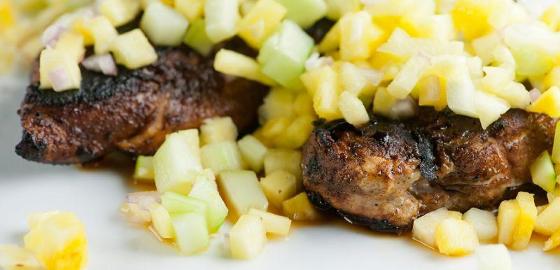 Blackened Chicken with Pineapple Salsa