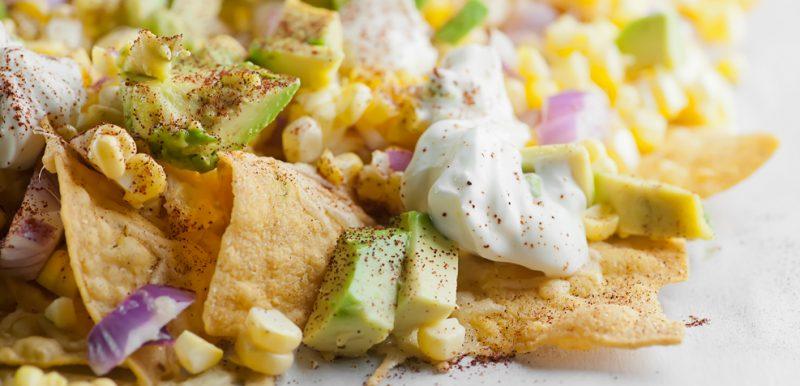 Fresh Corn Nachos