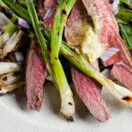 Grilled Steak and Scallions