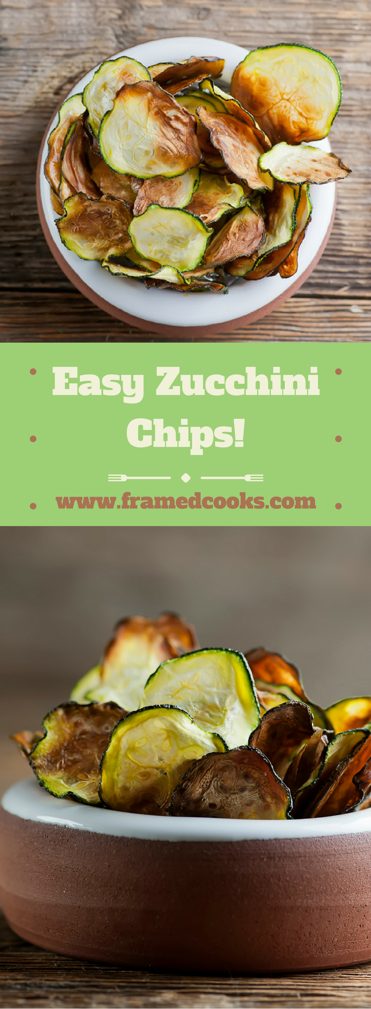 This recipe for easy zucchini chips makes a great snack or appetizer while at the same time helping use up that bumper crop of zucchini in your garden!