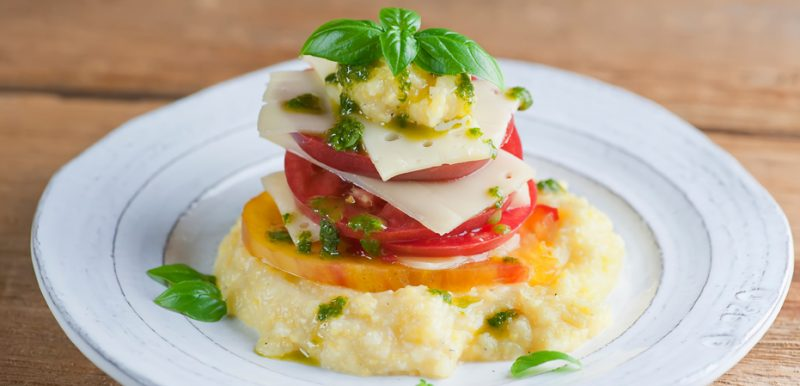 Tomato Basil Cheese Towers