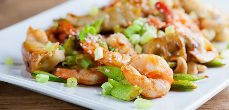 Easy Shrimp Dumpling Stir-Fry