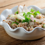 Farro Bowl with Brie and Shallots