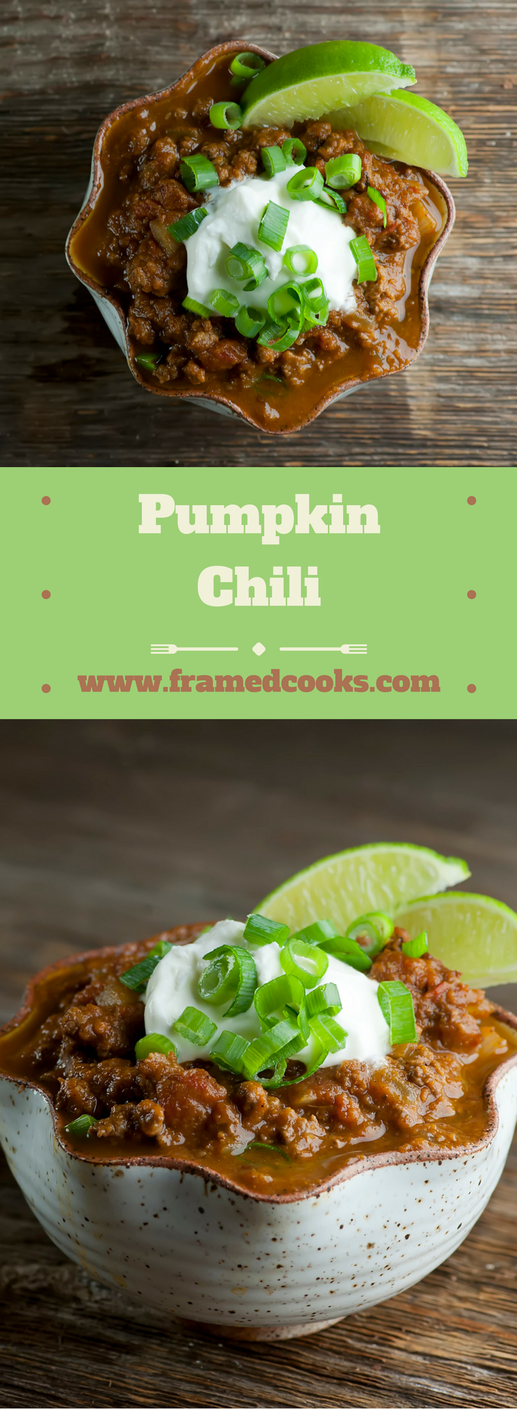 This easy hearty pumpkin chili recipe has all your favorite fall flavors!  So the next time you get that pumpkin spice craving, think chili!