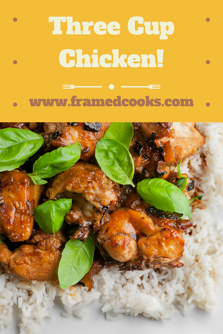 Three cup chicken is an easy, spicy recipe that will liven up your supper table!