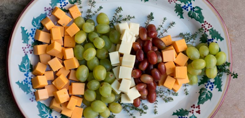 Christmas Tree Fruit and Cheese Platter