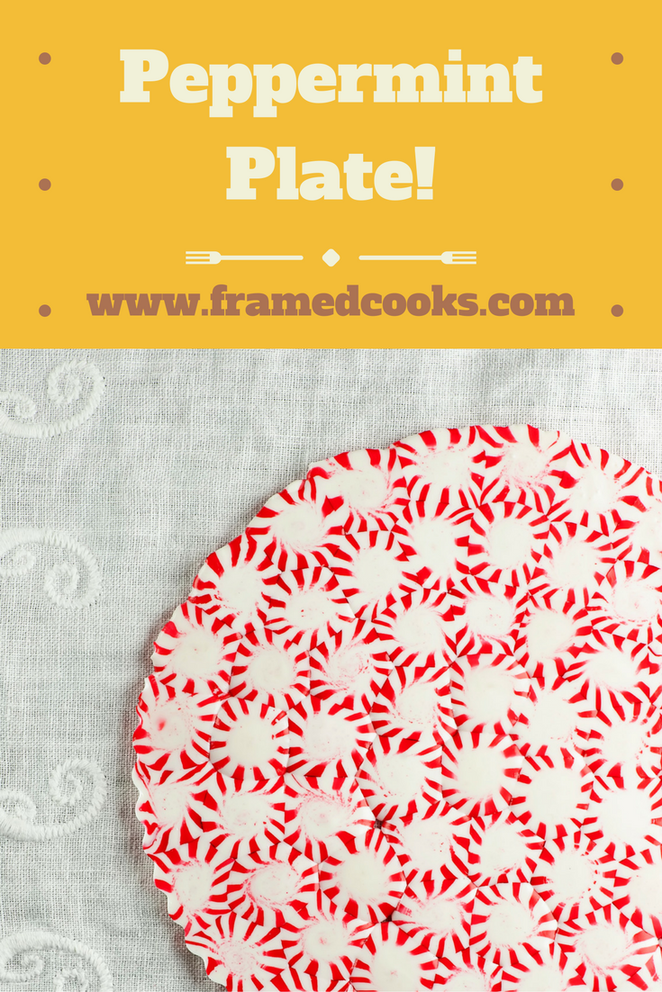 This easy to make peppermint plate looks good enough to eat.  As a matter of fact, you CAN eat it!