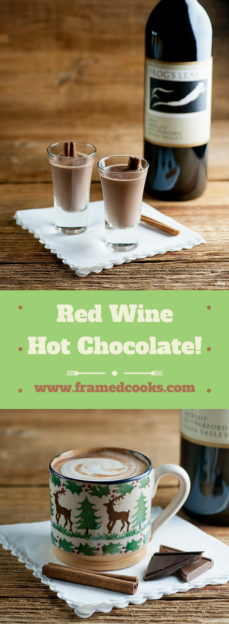This easy recipe for red wine hot chocolate is the ultimate in holiday beverage cheer!