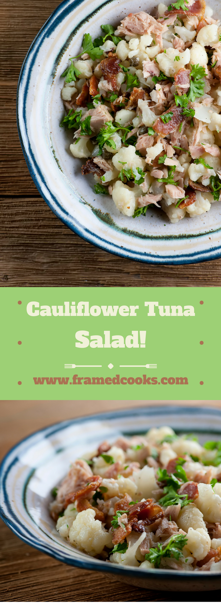 Shake up your lunch with this easy recipe for cauliflower tuna salad!