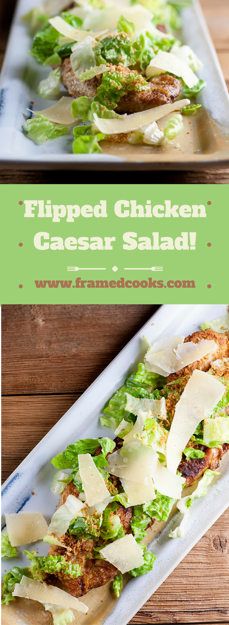 Turn things deliciously upside down with this easy recipe for flipped chicken Caesar salad!