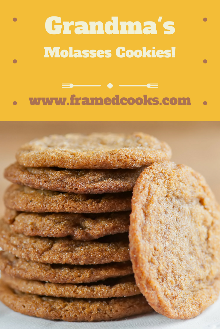 This recipe for my grandma's molasses cookies makes the perfect classic, spicy cookie.  One for each hand!