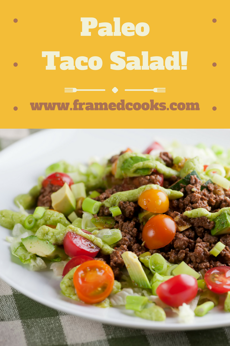 This easy recipe for paleo taco salad is a spicy version of good and good for you!
