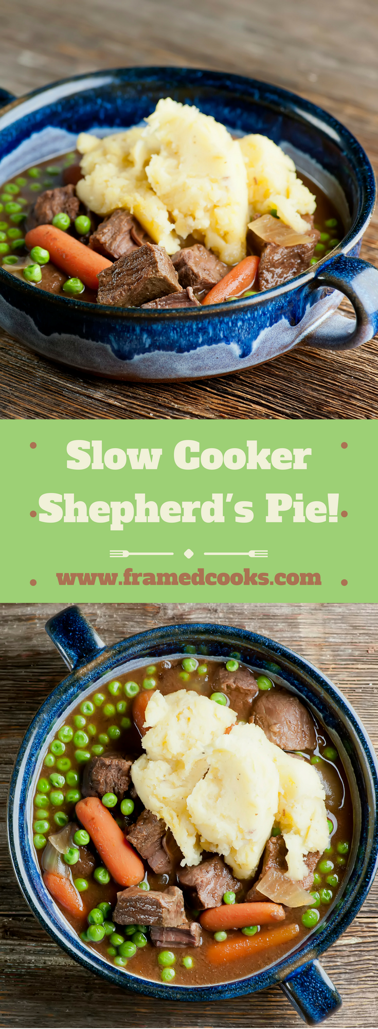 Shepherd's pie, your favorite comfort food, comes to your slow cooker with this easy recipe!