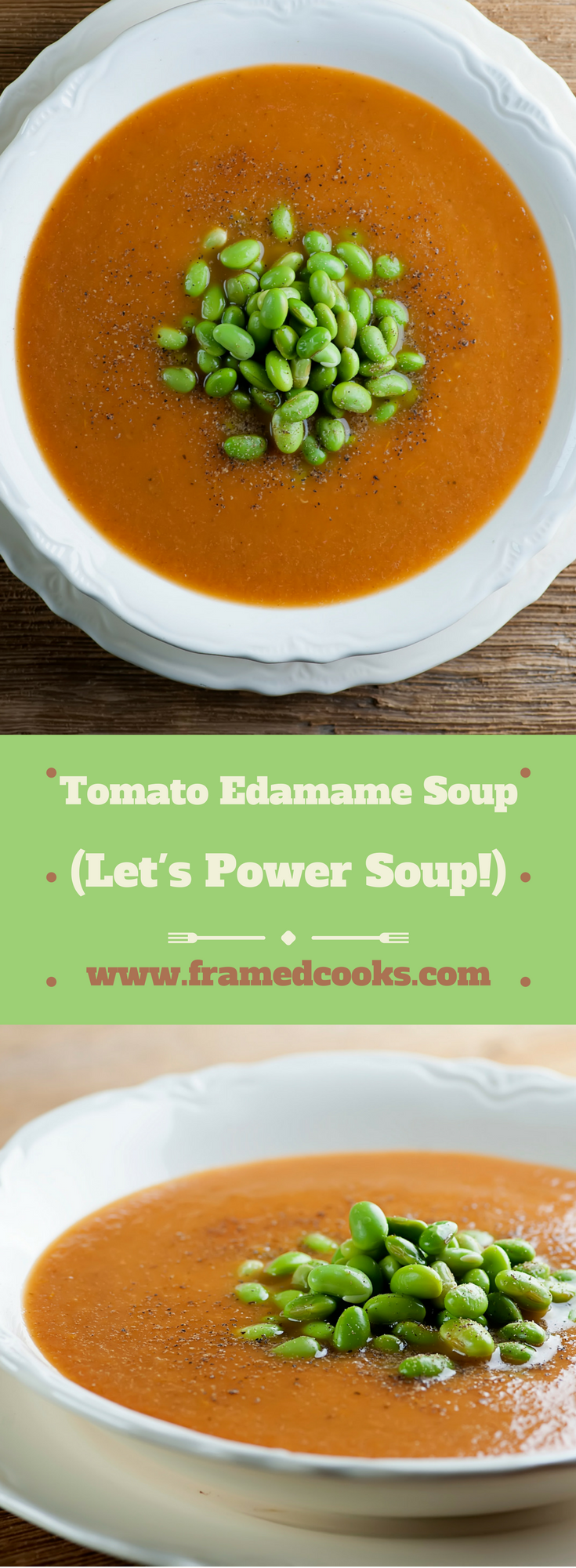 This recipe for roasted tomato and edamame soup is not only delicious, it will help you start power souping!