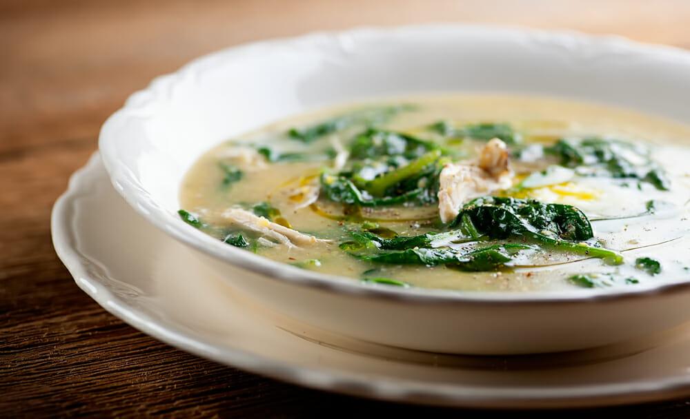 Parmesan Polenta Chicken Soup - Framed Cooks
