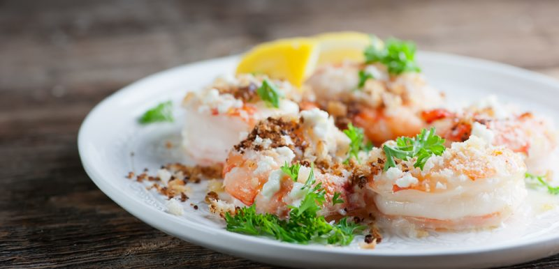 Roasted Shrimp with Bread Crumbs