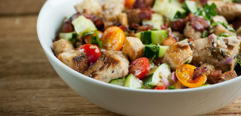 Chicken and Bacon Panzanella Salad