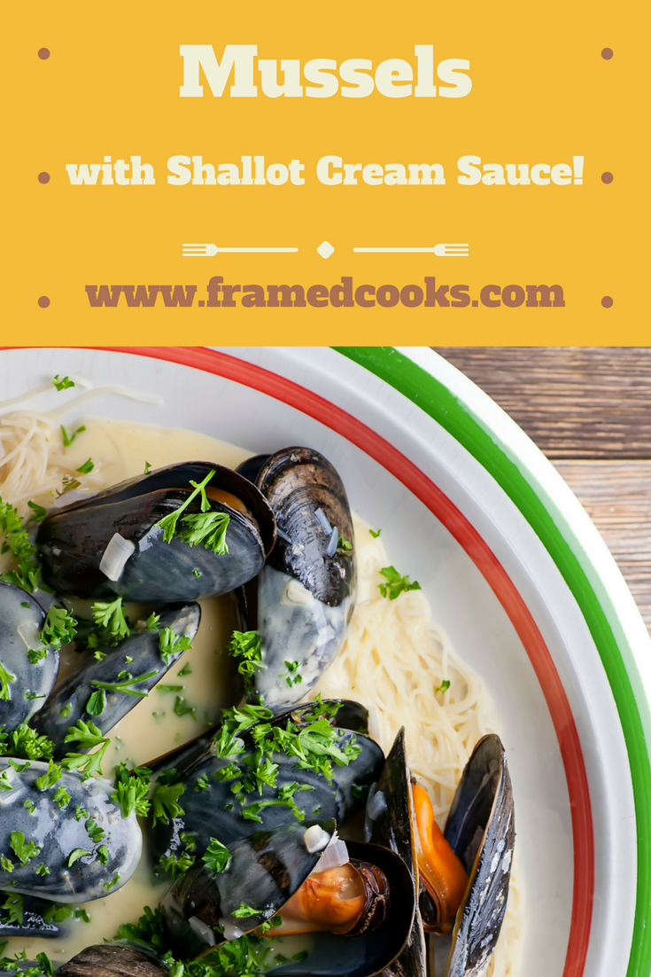 This recipe for mussels drizzled with shallot cream sauce served over angel hair pasta will have you coming back for seconds!