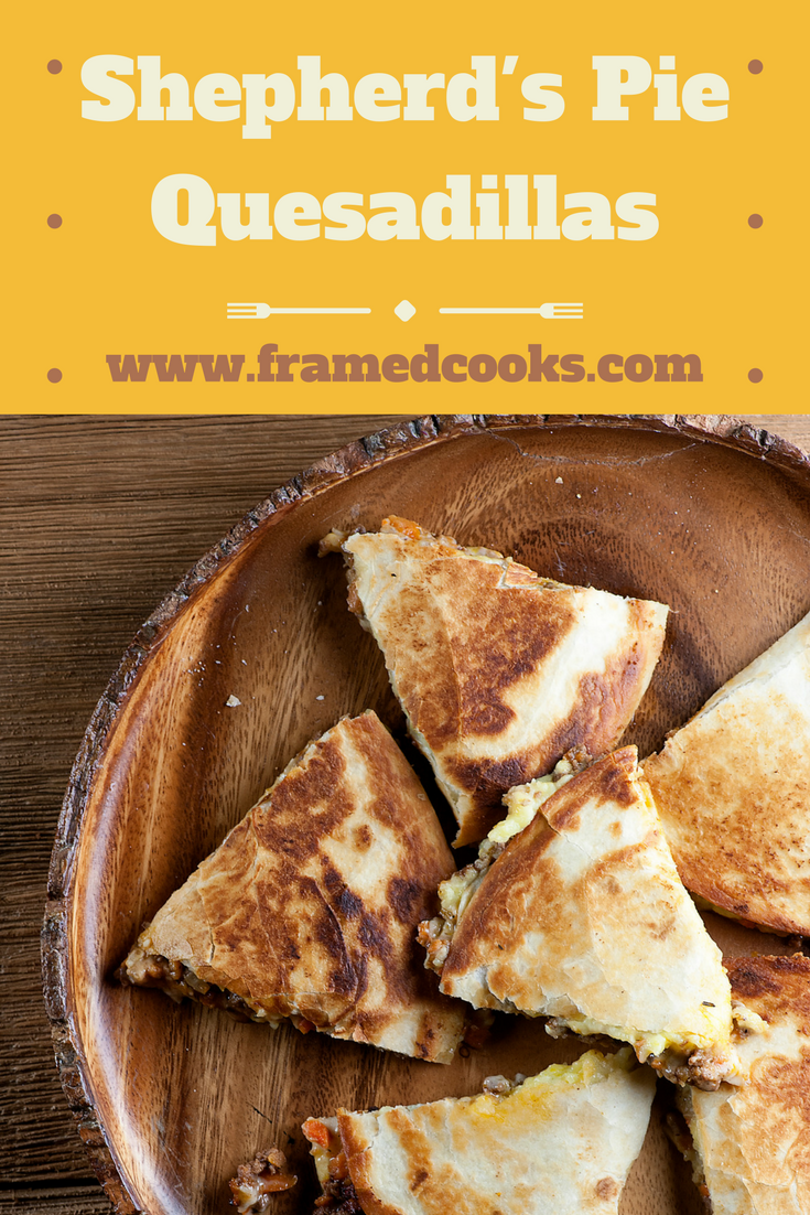 These Irish themed shepherd's pie quesadillas are addictive on St Patrick's Day and every day!