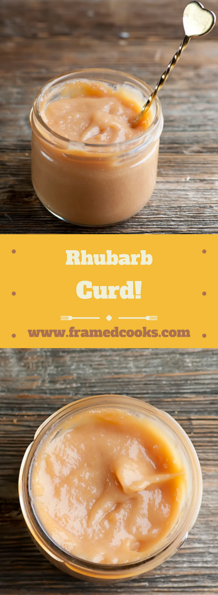 Welcome in spring with this easy recipe for rhubarb curd, a sweet and tangy fruit spread!