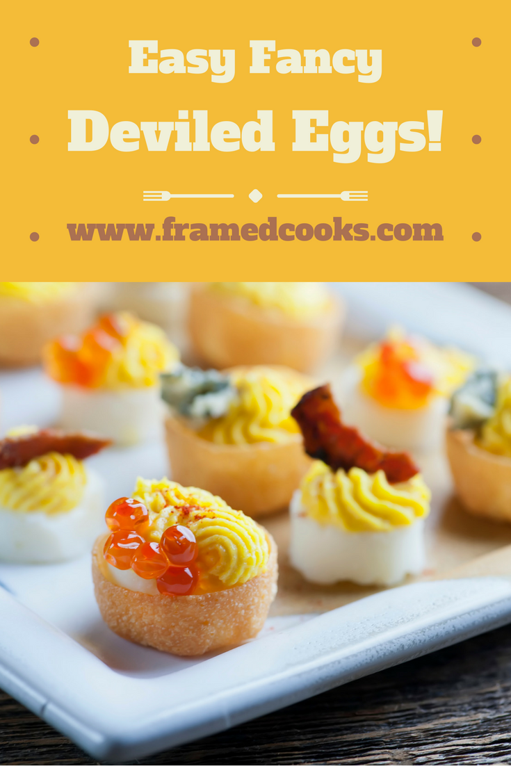 Take your deviled eggs to elegant new places with this recipe for easy fancy deviled eggs!