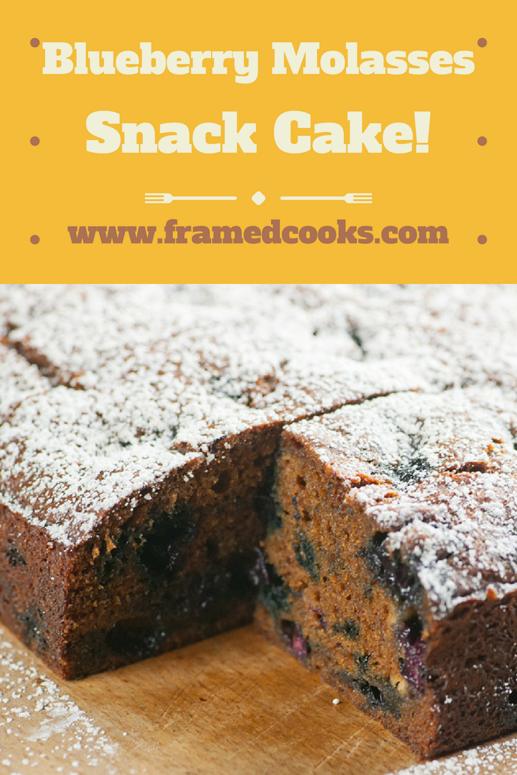 This easy recipe for blueberry molasses snack cake turns any day into a summer celebration!