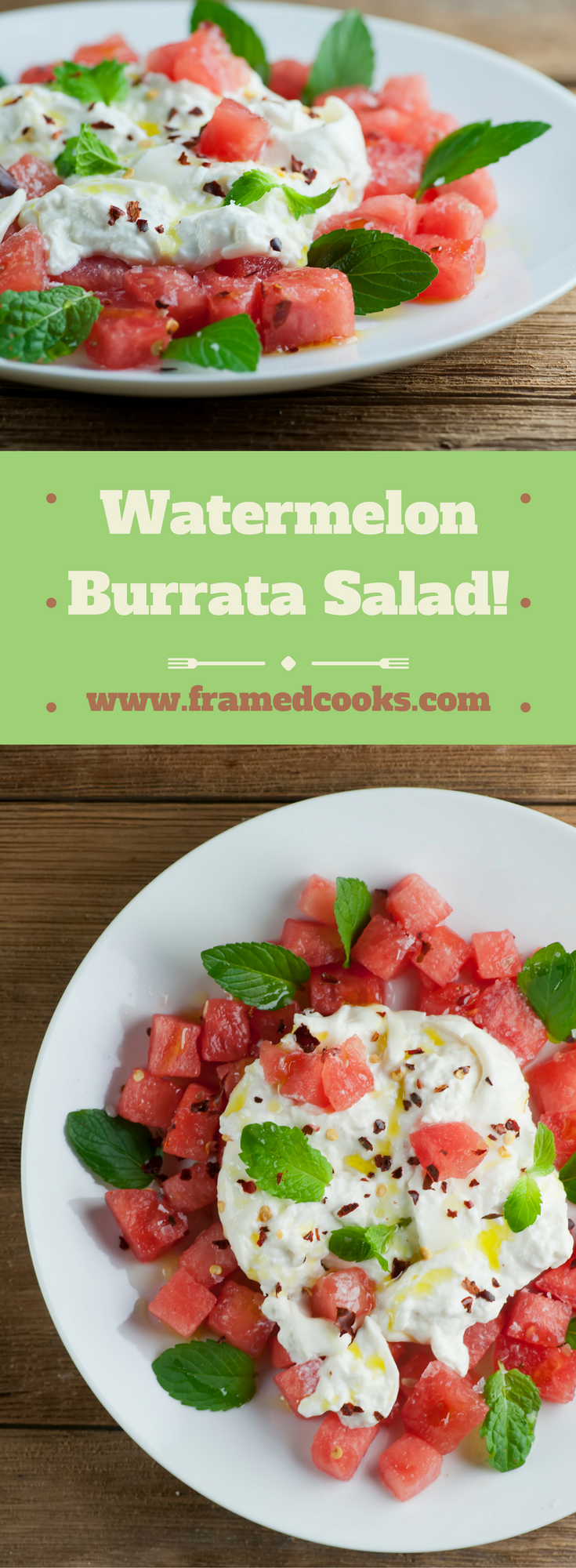 This easy recipe for watermelon burrata salad is quick and delicious way to welcome in summer!