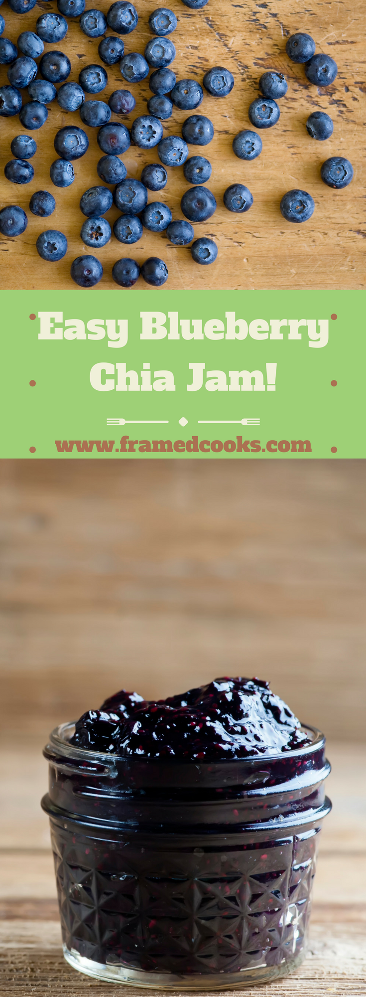 Got fresh summertime blueberries?  Then you are all set to make your very own easy blueberry chia jam!  That's right...chia seeds are the secret!