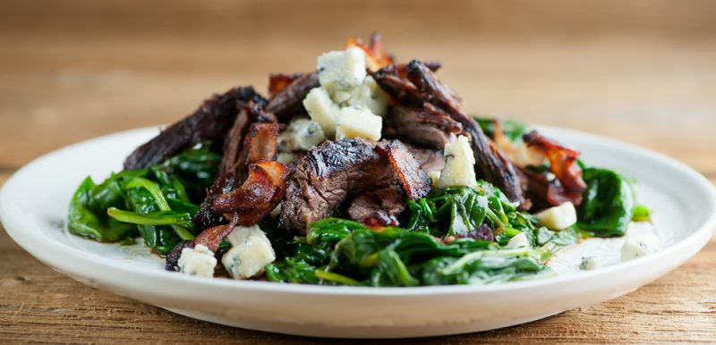 Balsamic Blue Cheese Steak Salad