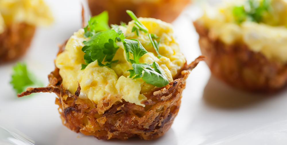 cheesy hash brown nests