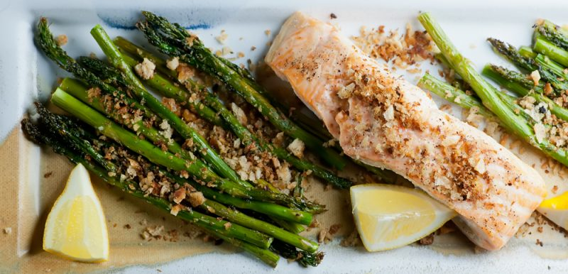 Salmon with Toasted Bread Crumbs
