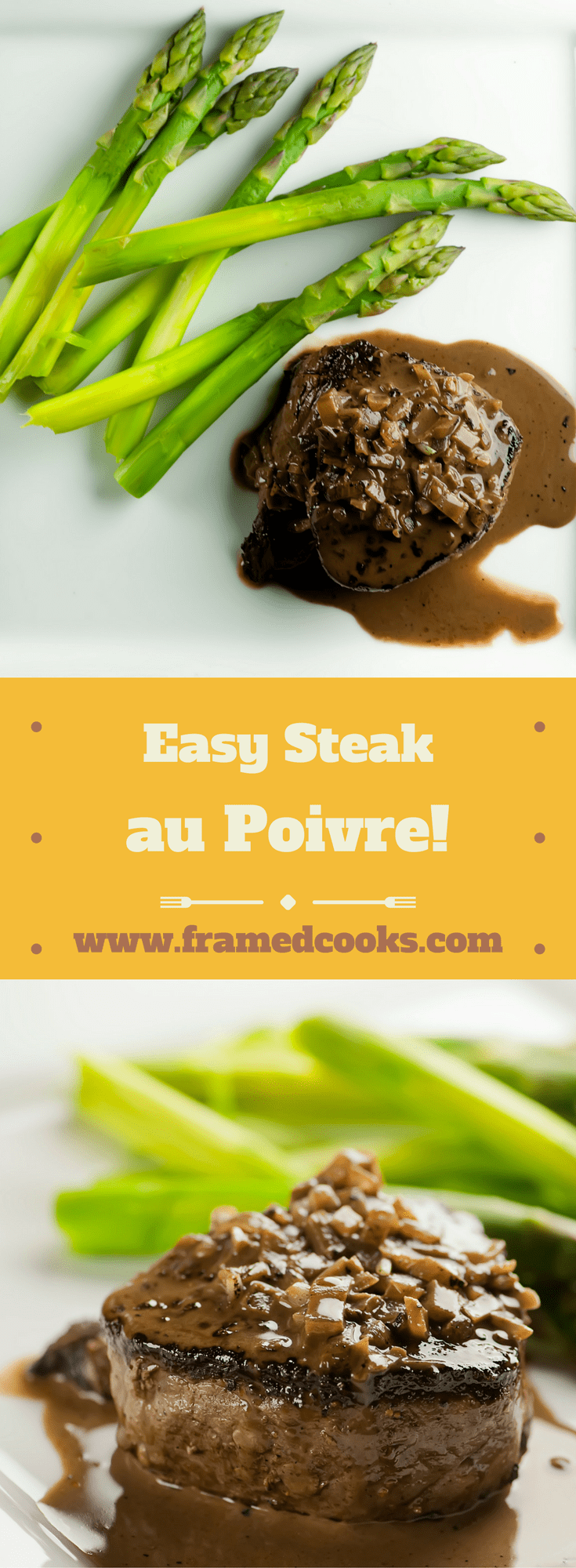 This recipe for easy steak au poivre - otherwise known as steak with pepper - has a creamy, boozy sauce that will have them wanting seconds!