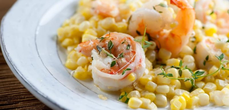 Shrimp with Corn and Herbs