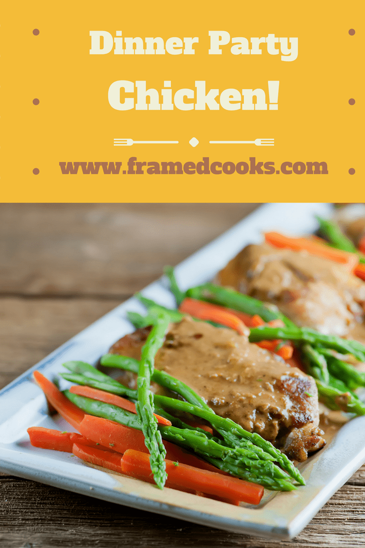 This recipe for easy dinner party chicken will take all the stress out of entertaining. And it's perfect for a delicious weeknight supper too!