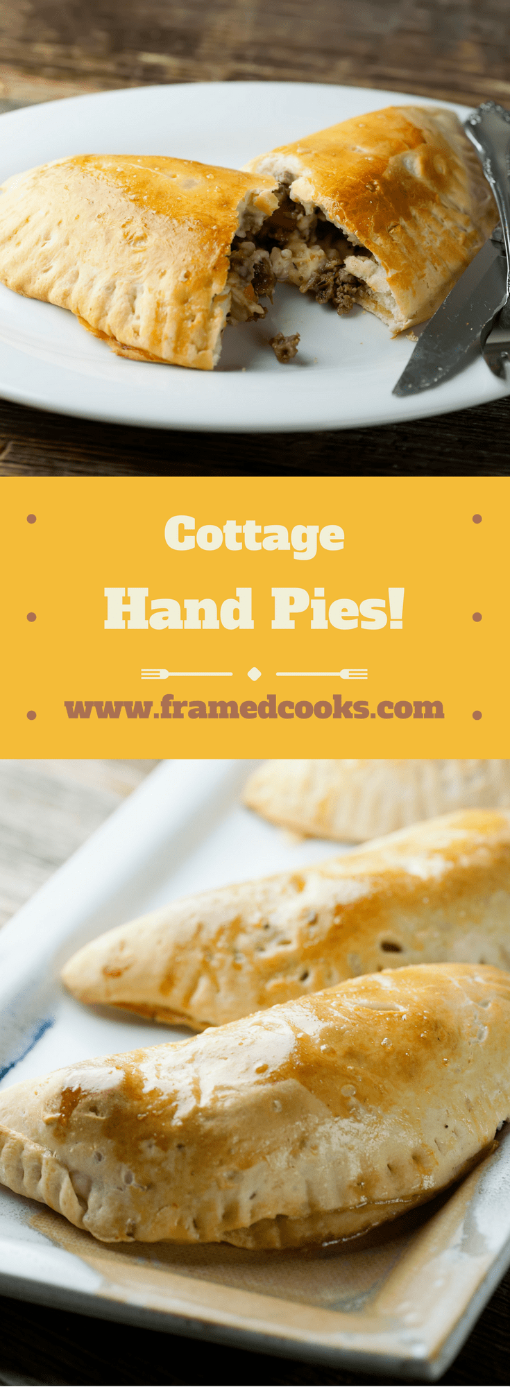 This easy recipe for cottage hand pies is your favorite beef cottage pie but in a fun to eat hand pie.  Bet you can't eat just one of these meat pies!