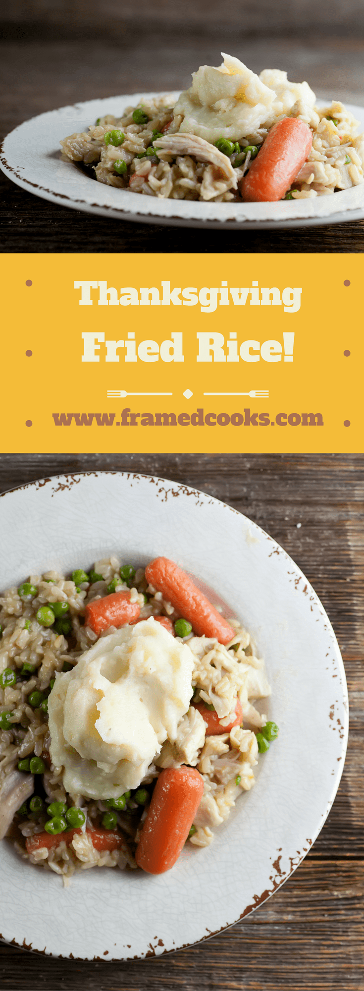 Want a fun alternative to a turkey sandwich? Put those leftovers to delicious good use with this easy recipe for Thanksgiving fried rice!